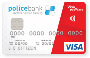 Police Bank Visa Credit Card